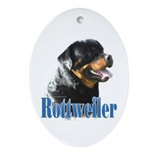 Rottweiler Name Oval Ornament