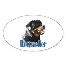 Rottweiler Name Oval Decal
