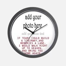 In memory of Personalize Wall Clock