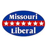 Missouri Liberal Oval Car Sticker