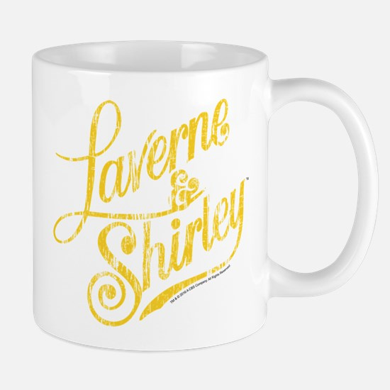 Laverne and Shirley Yellow Logo Mug