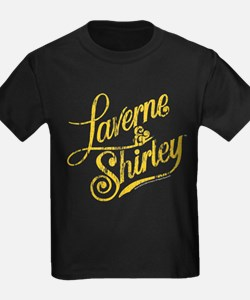Laverne and Shirley Yellow Logo T