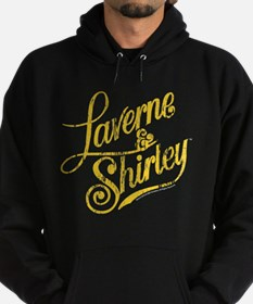 Laverne and Shirley Yellow Logo Hoodie