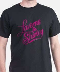 Laverne and Shirley Pink Logo T-Shirt