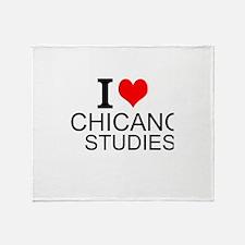I Love Chicano Studies Throw Blanket