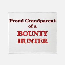 Proud Grandparent of a Bounty Hunter Throw Blanket