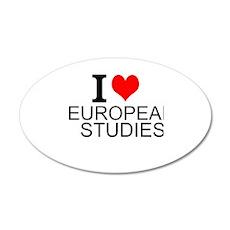 I Love European Studies Wall Decal
