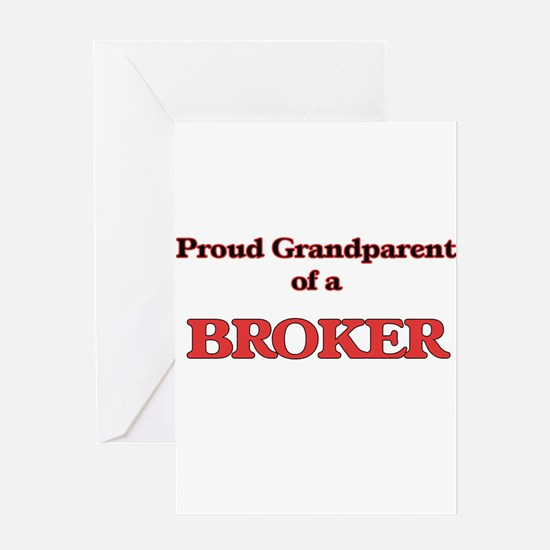 Proud Grandparent of a Broker Greeting Cards