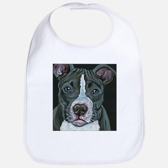 Blue Pitbull Dog Bib