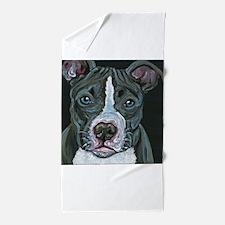 Blue Pitbull Dog Beach Towel