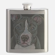 Blue Pitbull Dog Flask