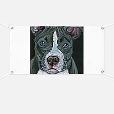 Blue Pitbull Dog Banner