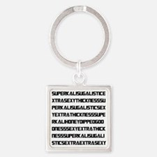 Unique Bbw Square Keychain