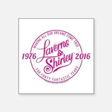 "Laverne And Shirley Logo De Square Sticker 3"" x 3"""