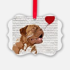 Cute Dog mastiff Ornament