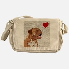 Cute French mastiff Messenger Bag