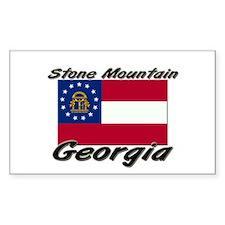 Stone Mountain Georgia Rectangle Decal