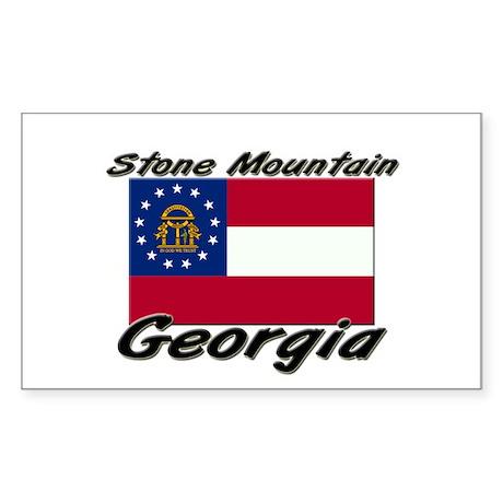 Stone Mountain Georgia Rectangle Sticker