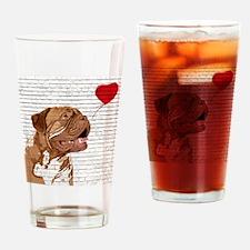 Cute French mastiff Drinking Glass