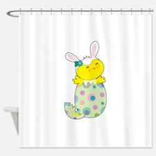 Easter Bunny Chick Shower Curtain