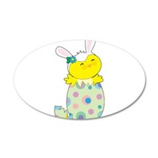 Easter Bunny Chick Wall Decal