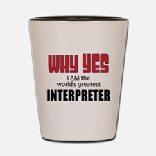 Interpreter Shot Glass