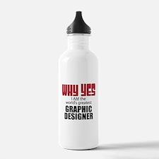 Graphic Designer Water Bottle