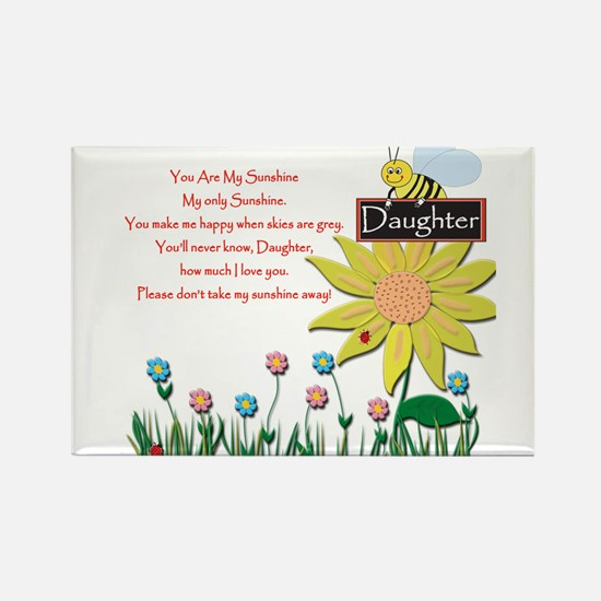 Cute Daughter Rectangle Magnet