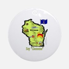 WI-Say Cheese! Ornament (Round)