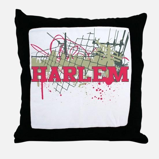 Harlem Urban NYC II Throw Pillow