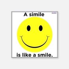 A Smile Is Like A Simile / Sticker