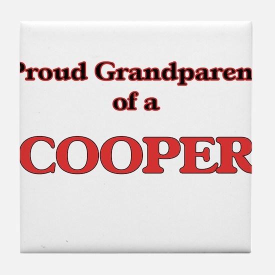 Proud Grandparent of a Cooper Tile Coaster
