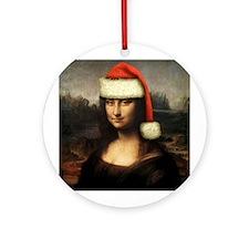 Mona Santa Ornament (Round)