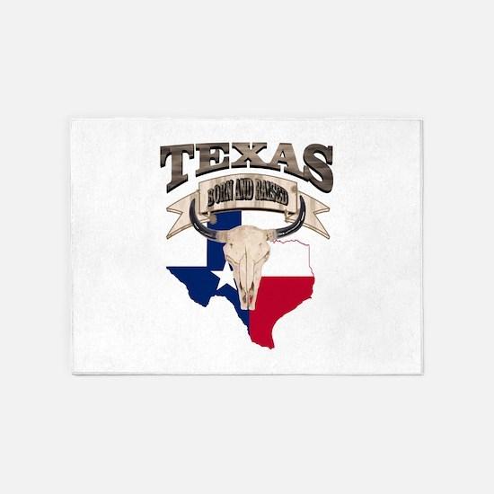 Bull Skull Texas home 5'x7'Area Rug