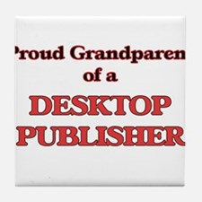 Proud Grandparent of a Desktop Publis Tile Coaster