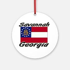 Savannah Georgia Ornament (Round)