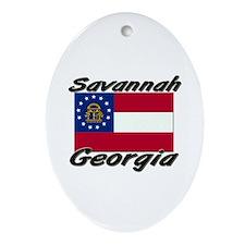 Savannah Georgia Oval Ornament