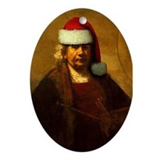 Rembrandt Santa Oval Ornament