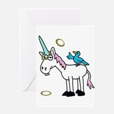 Hoops the Unicorn Greeting Cards