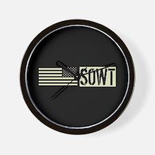 U.S. Air Force SOWT: Black Backwards U. Wall Clock