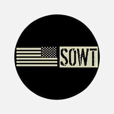 "U.S. Air Force: SOWT (Black 3.5"" Button (100 pack)"