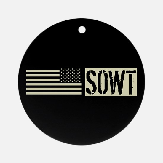 U.S. Air Force: SOWT (Black Flag) Round Ornament
