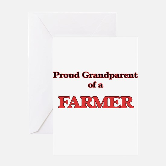 Proud Grandparent of a Farmer Greeting Cards