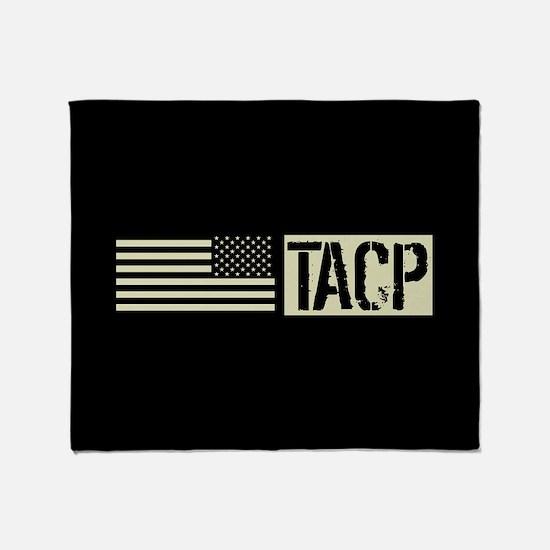 U.S. Air Force: TACP (Black Flag) Throw Blanket