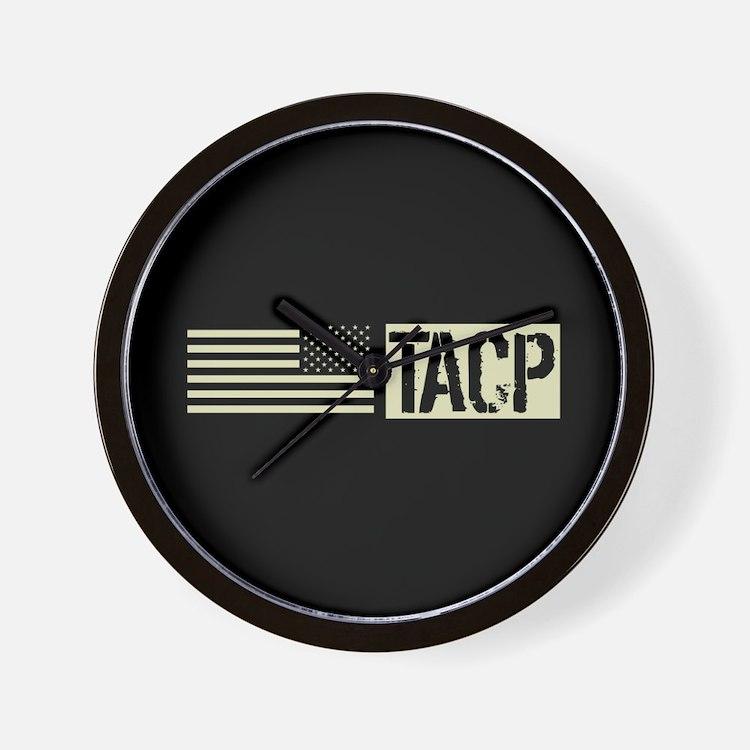 U.S. Air Force: TACP (Black Flag) Wall Clock