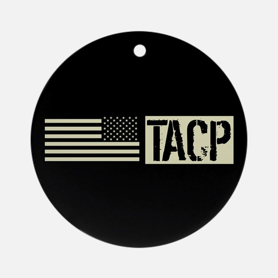 U.S. Air Force: TACP (Black Flag) Round Ornament