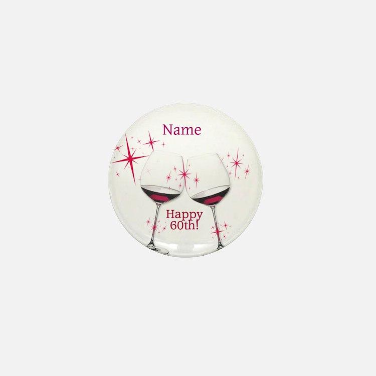 Custom 60th Birthday Mini Button