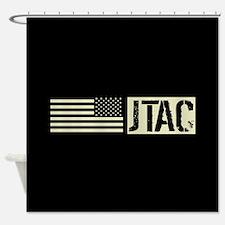 U.S. Air Force: JTAC (Black Flag) Shower Curtain