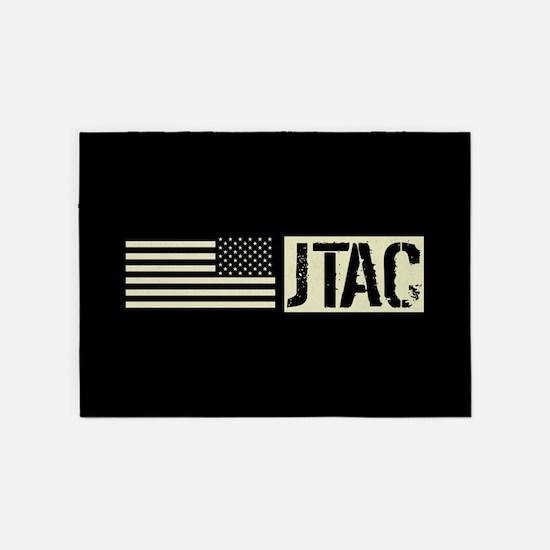 U.S. Air Force: JTAC (Black Flag) 5'x7'Area Rug