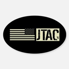 U.S. Air Force: JTAC (Black Flag) Sticker (Oval)